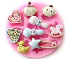 Allforhome(TM) Small Baby Shower Silicone Sugar Resin Craft DIY Moulds DIY gum paste flowers Cake Decorating Fondant Mold ^^ You can find more details at : bakeware