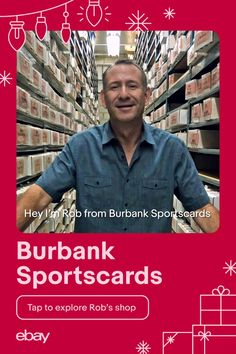 Need a gift for your dad? Boyfriend? Sister? Sports cards have made an all-time comeback and are the gift to give to all the sports fans in your life. Check out Rob's favorites, owner of Burbank Sportscards on eBay. Everyone wins when you support small businesses this holiday season. #ChristmasGifts #GiftIdeas #Giftsfordad, #Giftsforboyfriend Support Small Business, Small Businesses, Gifts For Dad, Comebacks, All About Time, Sisters, Fans, Boyfriend, Branding