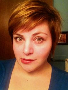 fat girls + short hair = YES! • ermahhgerd: Pixie hair face spam.