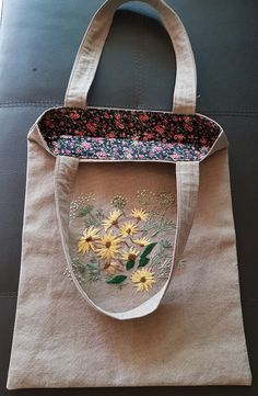 Embroidery Bags, Jute Bags, Personalized Wedding Gifts, Textiles, Flower Patterns, Canvas Tote Bags, Pouch, Sewing, Handmade