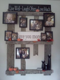 Pallet picture wall!