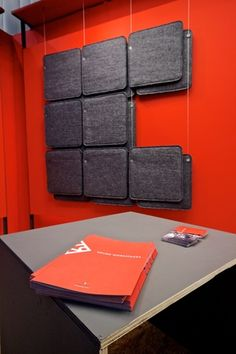 FeltTile aound absorber from Rom & Tonik. Acoustic Panels, Sound Proofing, Flexibility, Bmw, Wall, Projects, Ideas, Log Projects, Blue Prints