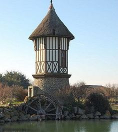 A watermill in Courseulles-sur-Mer, France .