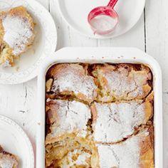 Pudding z jabłkami i rabarbarem - Przepis