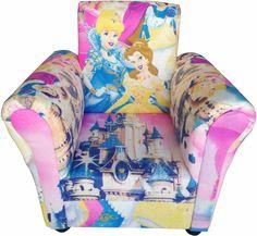 Παιδικό πολυθρονάκι PRINCESS με τις Cinderella και την Belle να πρωταγωνιστούν αλλά και με τις περισσότερες πριγκίπισσες να τις πλαισιώνουν!Ιδανικό για το δωμάτιο του κοριτσιού. Princess, Princesses