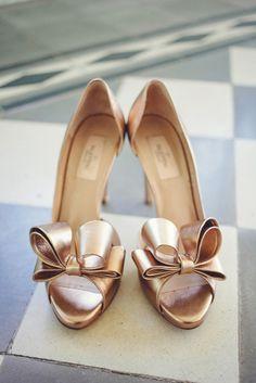 Gold Valentino wedding shoes: http://www.stylemepretty.com/texas-weddings/austin/2015/01/06/glamorous-austin-spring-wedding-2/ | Photography: SMS - http://smsphotography.com/