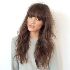 Loose curls with a fringe @brittsully