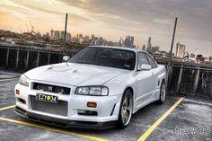 Nissan Skyline GT-R R34 R34 Gtr, Nissan Gtr Skyline, Nissan Infiniti, Nissan Silvia, Jdm Cars, Dream Cars, Super Cars, Automobile, Godzilla