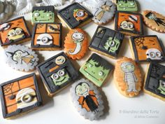 My cookies for Halloween - Cake by Silvia Costanzo (Il Giardino delle Torte) Cookies decorated with sugar paste and handpainted