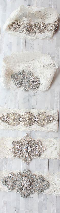 vintage garters.. Gorgeous