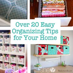 It's spring cleaning time! Time to get our homes organized with these easy tips!