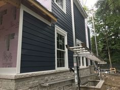 We have started to install the siding at 937 Echo Lane in Glenview! Custom Home Builders, Split Level Remodel Exterior, Clapboard Siding, House Exterior, Custom Homes, Bathroom Remodeling Contractors, Rustic Remodel, Renovations, Painting Aluminum Siding