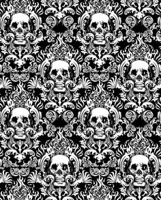 Skull Damask Google Search Results Halloween Labels Signs