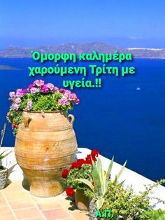 Good Day, Greece, Planter Pots, In This Moment, Buen Dia, Greece Country, Good Morning, Hapy Day