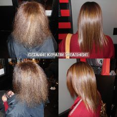 Cezanne Keratin Smoothing Treatment. Love this treatment because there are NO harmful chemicals involved!! Makes your hair smoother, stronger, and healthier!! #smooth #cezanne #keratin #love