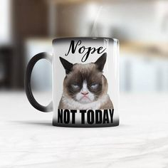 How do I take my Coffee Seriously Funny Grumpy cat coffee mug Cats humor mug Color Changing cup or White coffee mug Funny gift for cat mom Cat Coffee Mug, White Coffee Mugs, Funny Coffee Mugs, Funny Mugs, Funny Gifts, Coffee Shop, Grumpy Cat Mug, Grumpy Cat Humor, Cat Memes