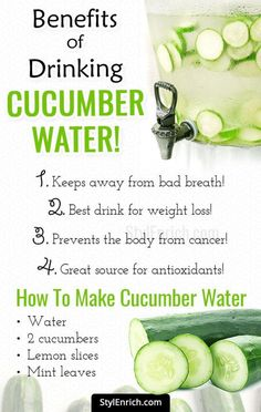 Benefits Of Cucumber Water : Nourish Your Body With Best Detox Drink! Nourish Your Body With World's Best Detox Drink : Cucumber Water! Detox Diet Drinks, Smoothie Detox, Fat Burning Detox Drinks, Cleanse Detox, Liver Cleanse, Detox Juices, Juice Cleanse, Stomach Cleanse, Detox Foods