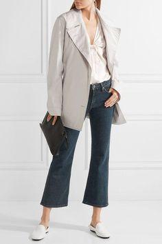 Lemaire - Cotton-blend Poplin Trench Coat - Light gray - FR40
