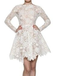 MARIA LUCIA HOHAN - LONG SLEEVES COTTON LACE DRESS