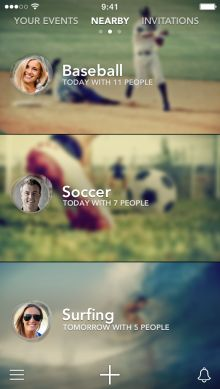 Sporty for iPhone launches to help you find people nearby to play sports with