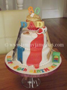 Painter & Decorators style Mini Tier + Cupcake topper