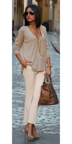 Trending: Neutral Skirts & Pants
