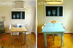 DIY painted kitchen table