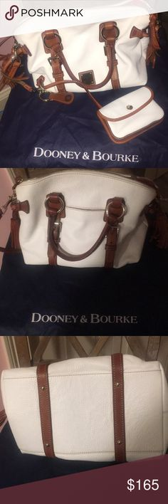 Dooney and Bourke Purse This is a white pebble leather Dooney and Bourke purse with key fob and coin pouch. Gently used very very good condition smoke free home Dooney & Bourke Bags Satchels
