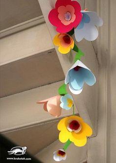 garland of flowers DIY Flower Garland