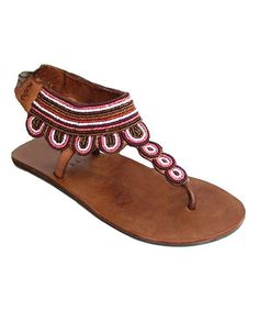 Look what I found on #zulily! Pink Likoni Sandal #zulilyfinds