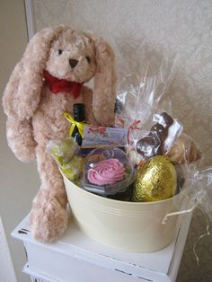 Peekaboo easter bunny 55 aud free delivery red wrappings luxury easter hamper chic dreams negle Choice Image