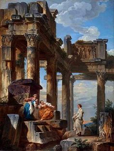 Ruins with Prophet - Giovanni Paolo Panini, 1731, Fine Arts Museums (Legion of Honor) San Francisco, CA Museums Receive Major Gifts of Art from the Estate of Diana Dollar Knowles.