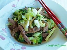 Broccoli and beef in Oyster Sauce