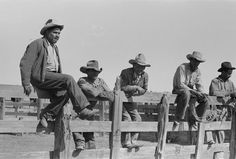 Cowboys sitting on corral fence. Roundup near Marfa, Texas Cowboy Poetry, Cowboy Art, Cowboy And Cowgirl, Real Cowboys, Cowboys And Indians, History Page, Texas History, Marfa Texas, Art Of Manliness