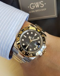 Rolex GMT Master II Steel & Gold 116713LN