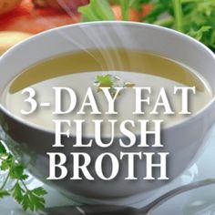 Dr Oz: 3-Day Fat Flush + Vegetable Broth & Breakfast Shake Recipes