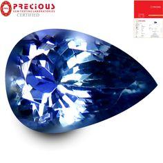 1.83 ct PGTL Certified Five-star Pear Shape (9 x 6 mm) Bluish Violet Tanzanite