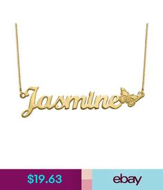 Necklaces & Pendants Custom 18K Gold Plated 925 Silver Butterfly Name Necklace Christmas Gift Ideas #ebay #Fashion