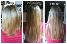 Hair extensions before after install and after final haircut hair extensions before after install and after final haircut hair make up pinterest pmusecretfo Gallery