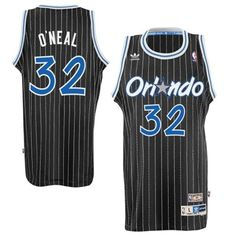 Mens Orlando Magic Shaquille O'Neal adidas Black Hardwood Classics Swingman Jersey