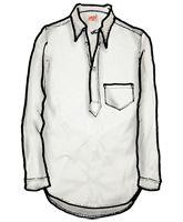 Levi's vintage clothing: 1915s Sunset Shirt. Milk White