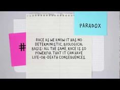 The social construction of race explained -- Paradox Animation, narrated by sociologist Dalton Conley (author of You May Ask Yourself: An Introduction to Thinking like a Sociologist).