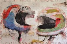"""""""French Connection,"""" original figurative painting by artist Wilfrid Moizan available at Saatchi Art Original Artwork, Original Paintings, Paint Photography, Thing 1, Figure Painting, Figurative Art, Contemporary Artists, Paper Art, Saatchi Art"""