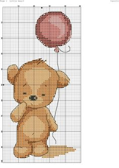 Cross stitch little bear.