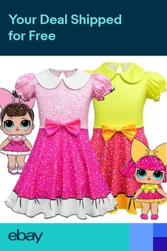 9d003b98e74615 Kids Girls LOL Surprise Dolls Fancy Dress Costume Cosplay Dress for 2-10Y