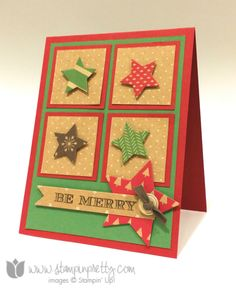 Holiday Invitation stamp set - designed by Mary Fish, Independent Stampin' Up! Demonstrator. Details, supply list and more card ideas on http://stampinpretty.com/2014/09/starstruck-for-under-the-tree-designer-series-paper.html