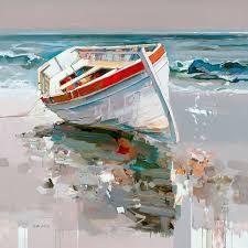 Josef Kote - Sweet Escape - My Bilder Landscape Art, Landscape Paintings, Landscapes, Pinterest Pinturas, Sailboat Painting, Boat Art, Seascape Paintings, Oil Paintings, Fine Art