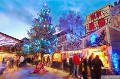 Christmas market at the city center. Colmar. Wine route. Haut-Rhin. Alsace. France.