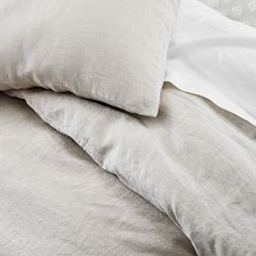 Linen Duvet Cover & Shams – Natural Flax | west elm