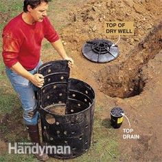 This is the type of dry wells I have in my back yard. Keep for future reference. Photo 4: Put the dry well together